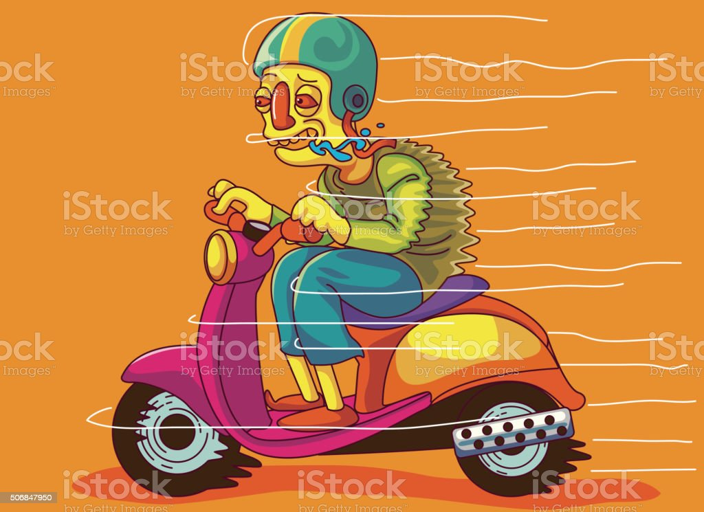 Motorcycle,teenager, gallop, driving stock photo