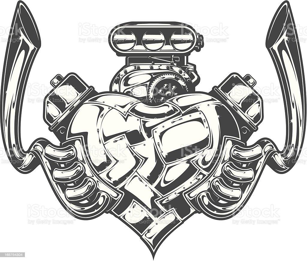 motorheart royalty-free stock vector art