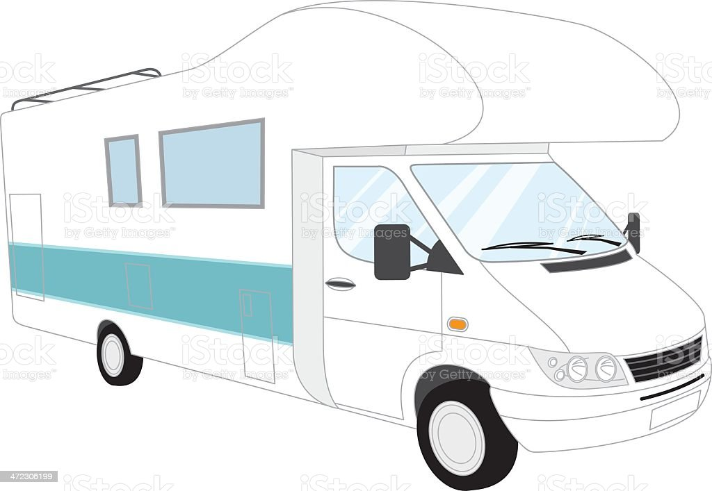 Motorhome royalty-free stock vector art