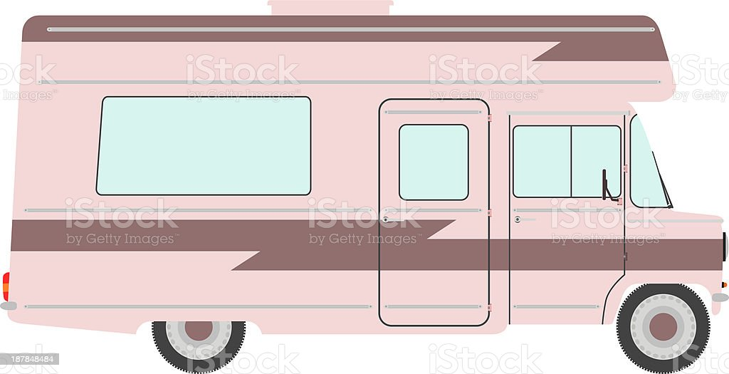 Motorhome. royalty-free stock vector art