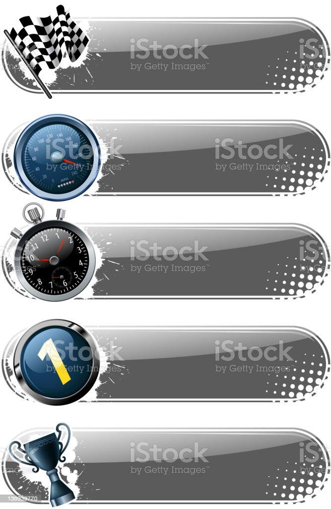 motorized sport banners stock photo