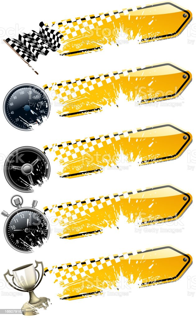 motorized sport banners royalty-free stock vector art