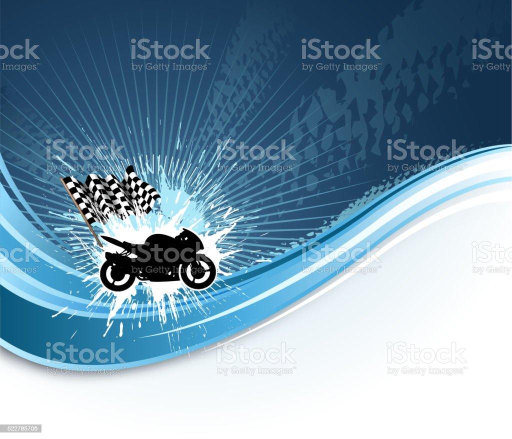 motorized sport wave vector art illustration
