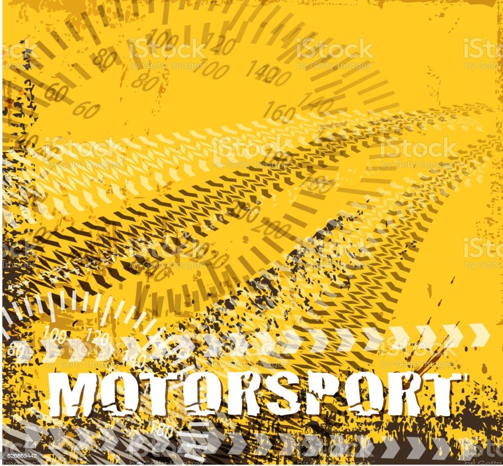 motorsort track vector art illustration