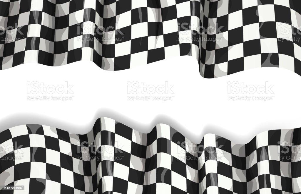 motorsport banner vector art illustration