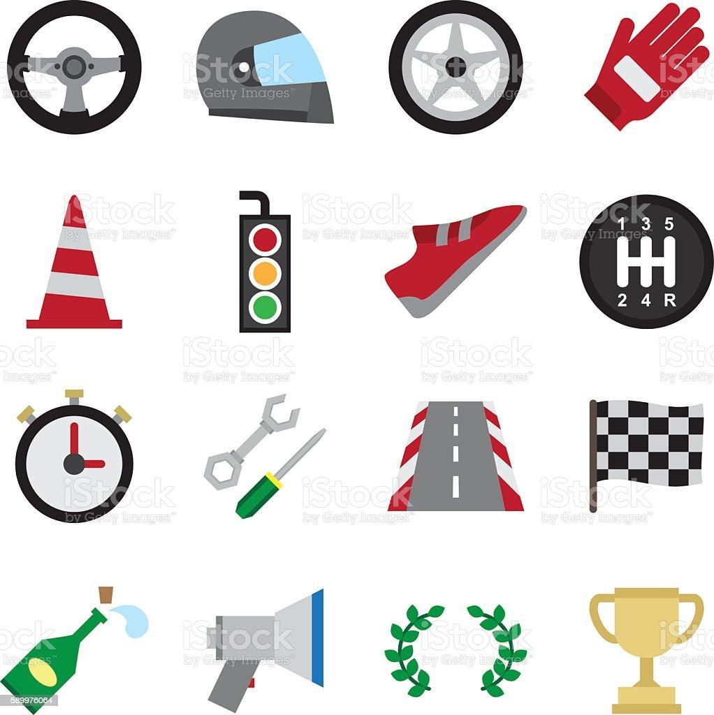 Motorsport color icon vector art illustration