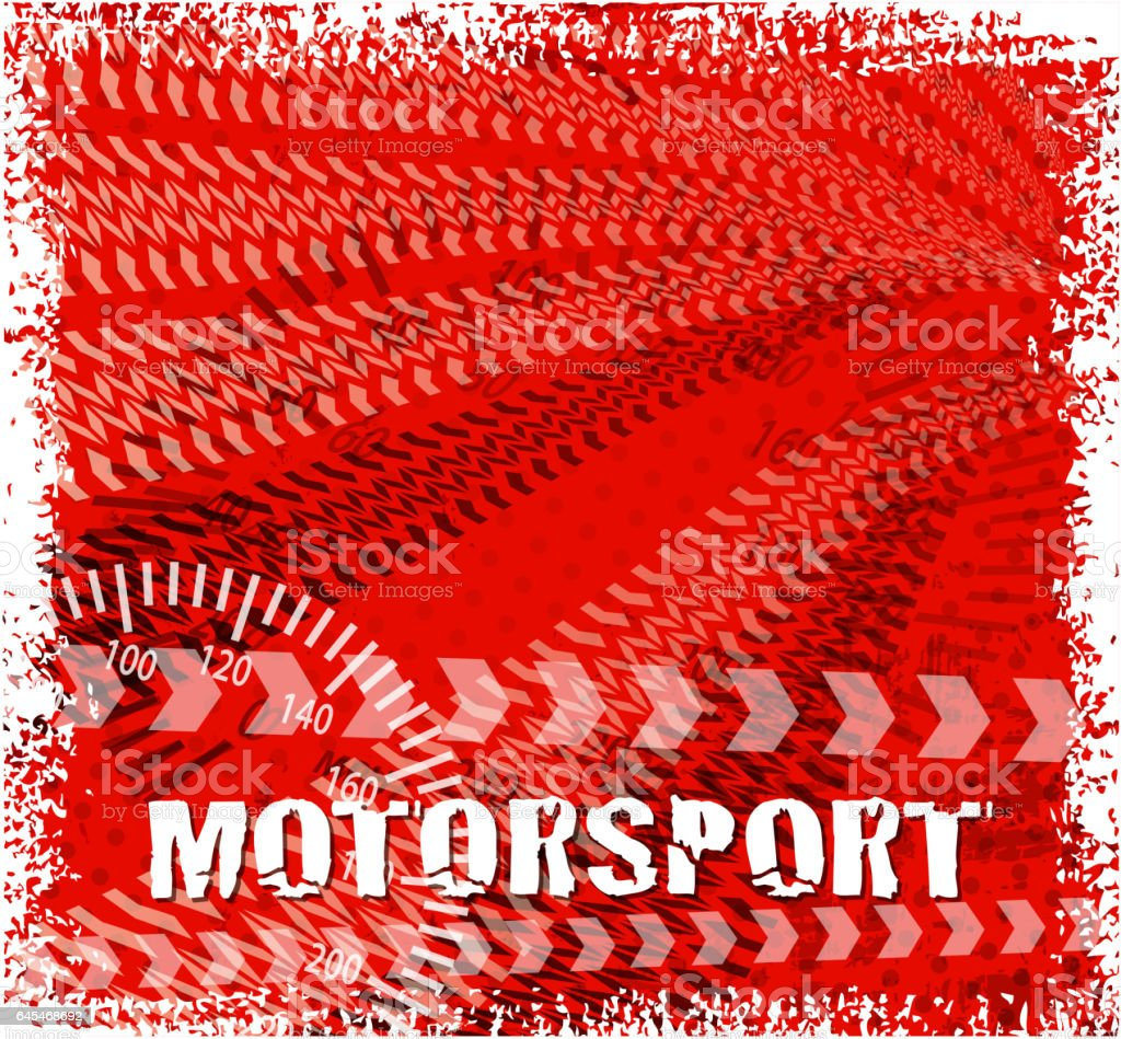 drawn of vector blank Motorsport road.This file has been used...