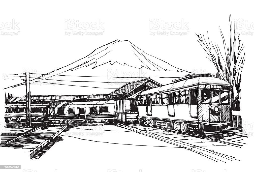 fujisan vector art illustration