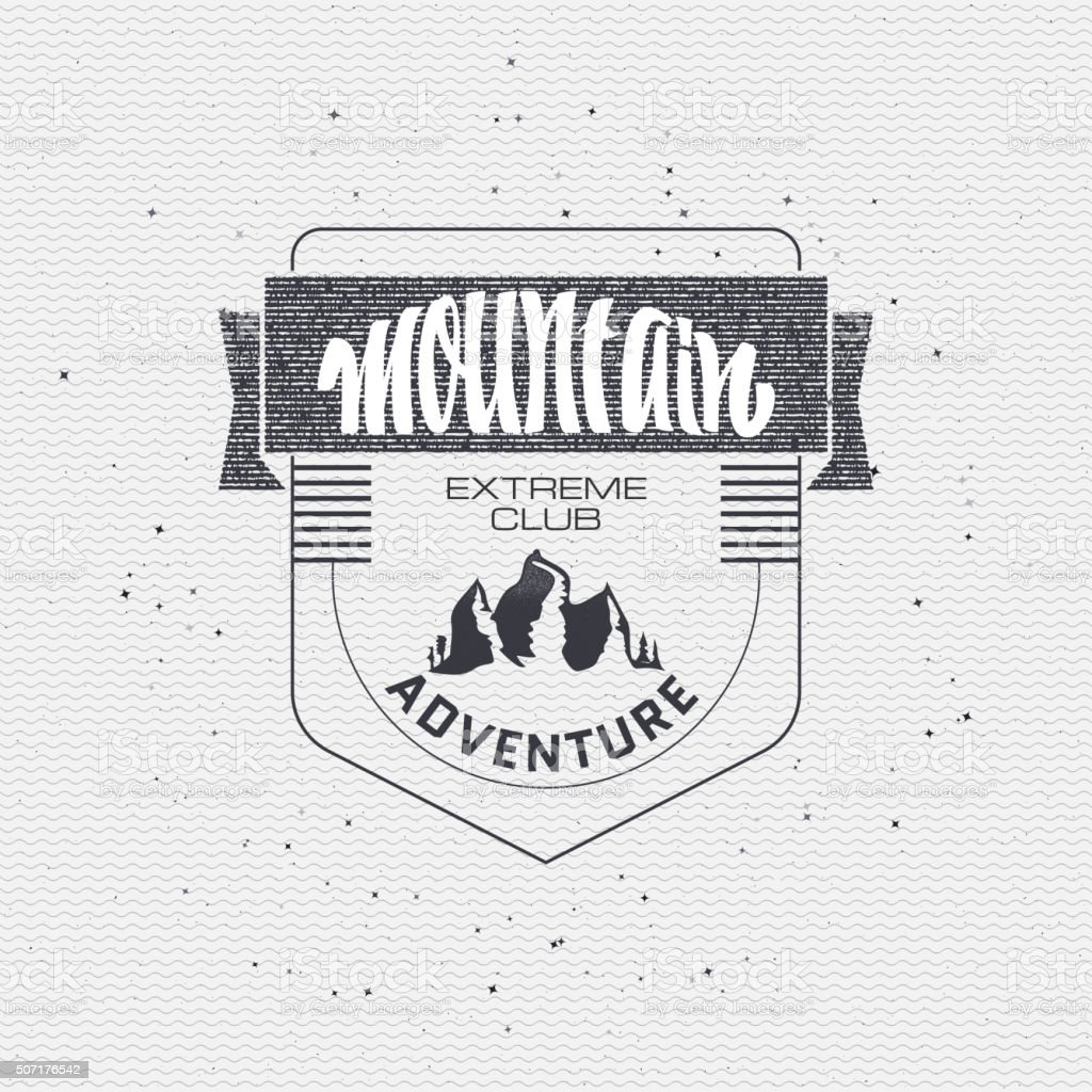 Mountain adventure and expedition insignia badges It can be used vector art illustration