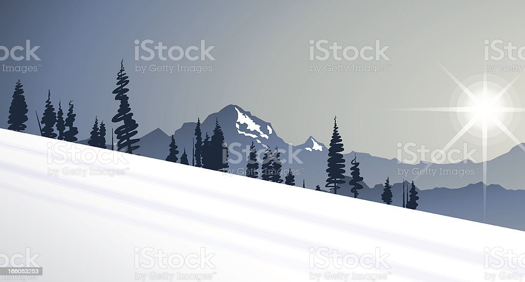 mountain background royalty-free stock vector art
