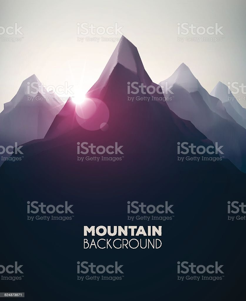 Mountain Background vector art illustration