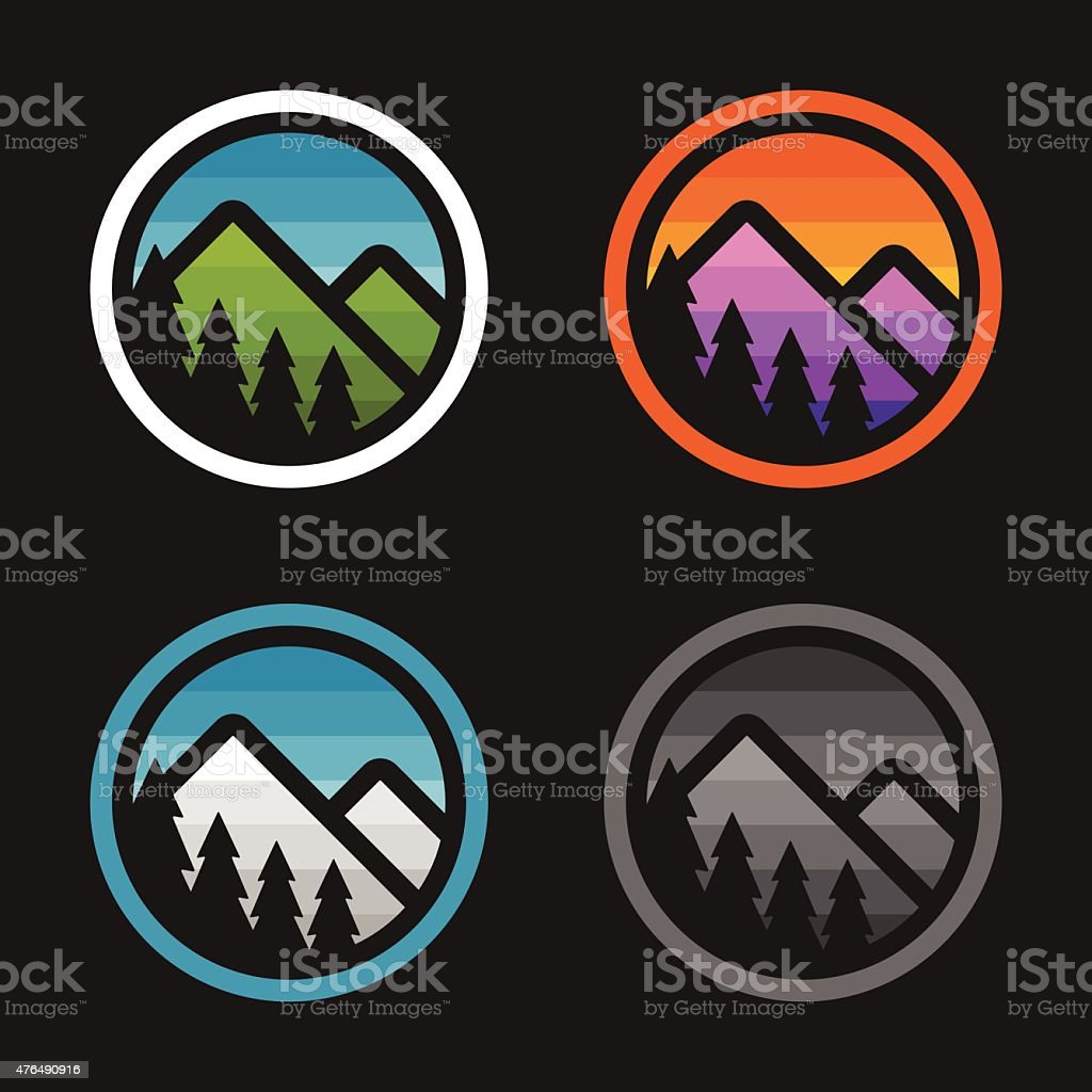 Mountain badges vector art illustration