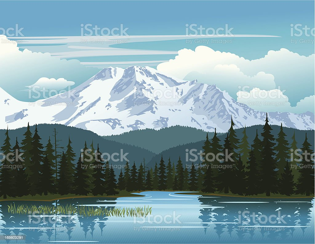Mountain Beauty vector art illustration