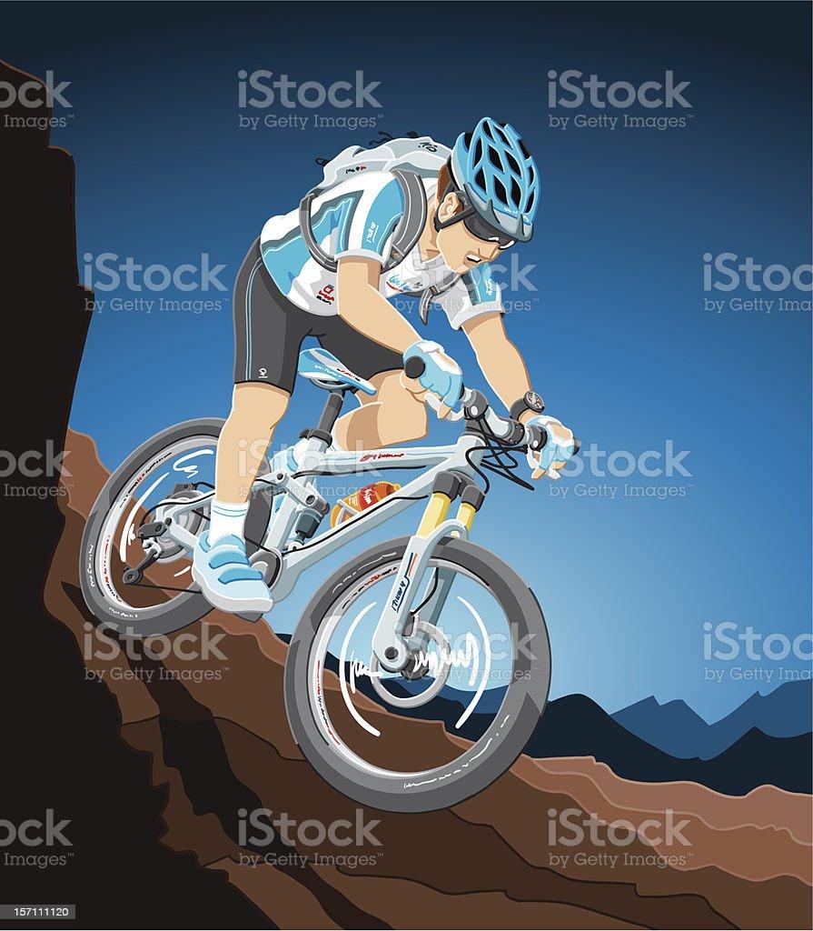 Mountain Bike Action vector art illustration