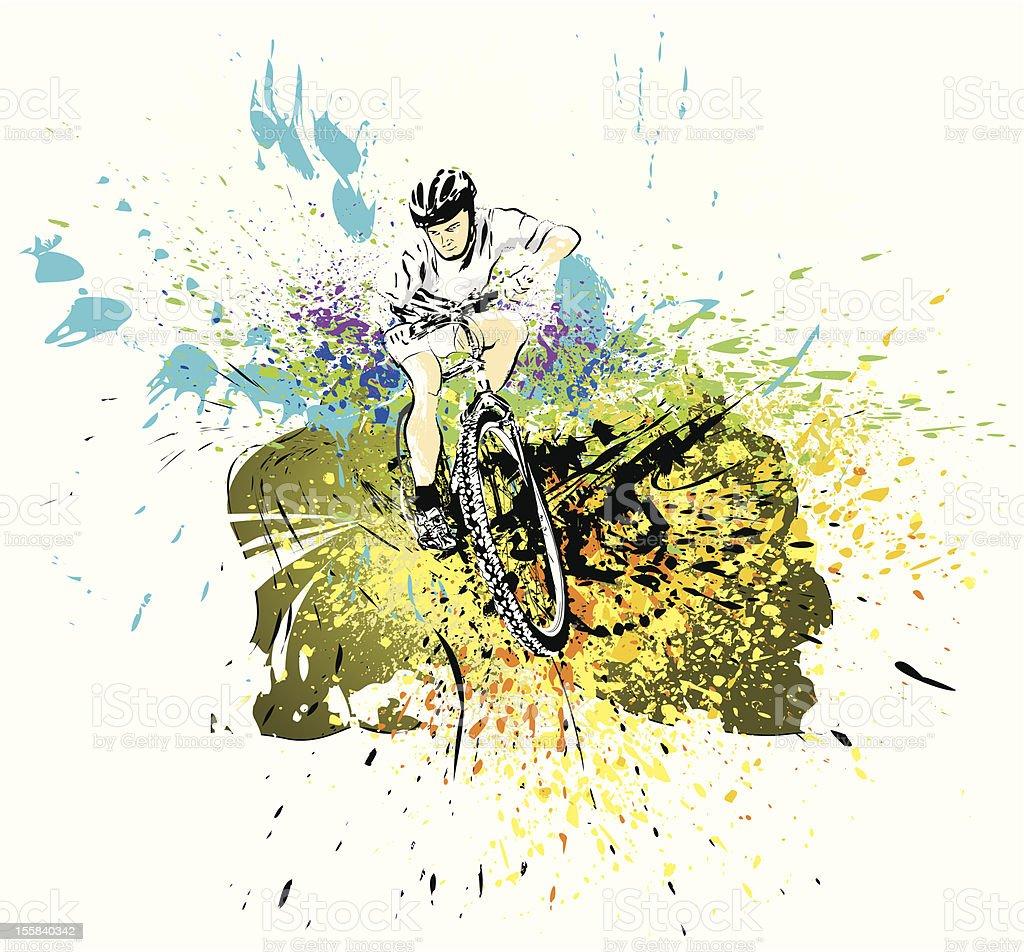 Mountain bike rider. vector art illustration
