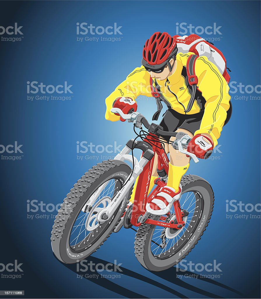 Mountain Biker royalty-free stock vector art