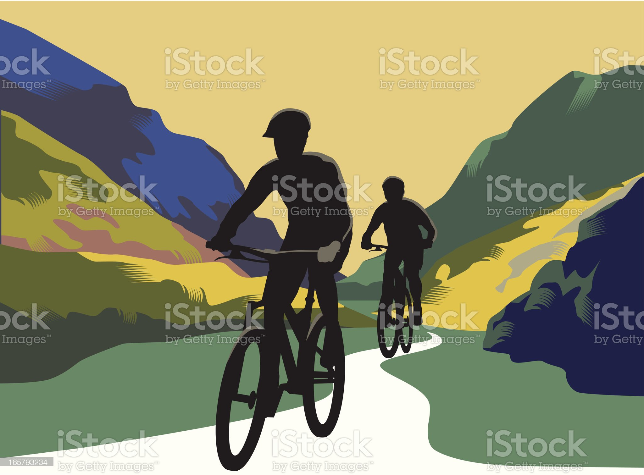 Mountain Bikes royalty-free stock vector art