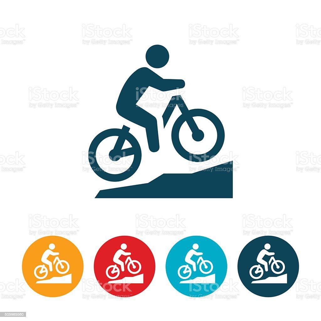 Mountain Biking Icon vector art illustration