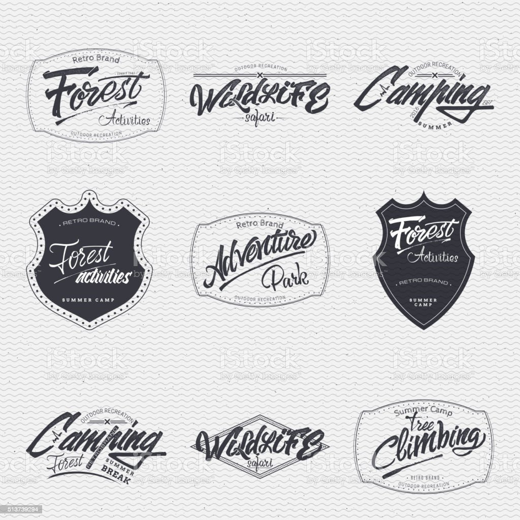 Mountain biking sign  handmade differences, made using calligraphy and lettering vector art illustration