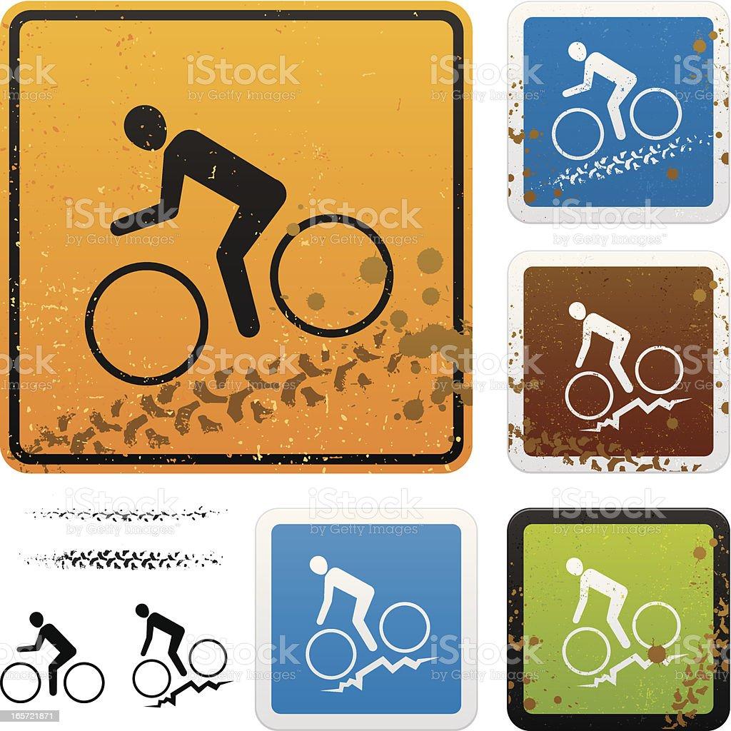 Mountain biking signs royalty-free stock vector art