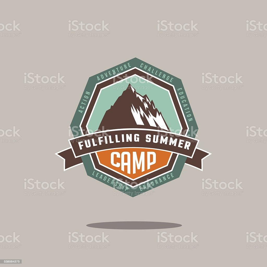 Mountain camp icon vector art illustration