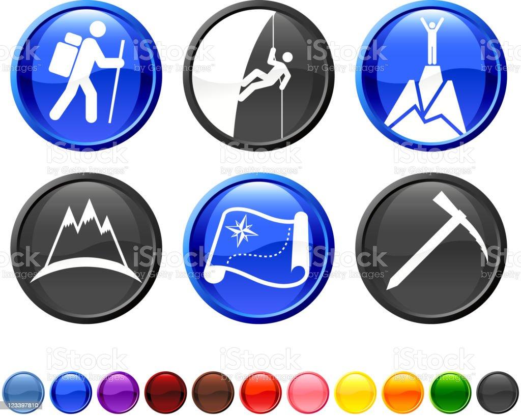 mountain climbing royalty free vector icon set royalty-free stock vector art