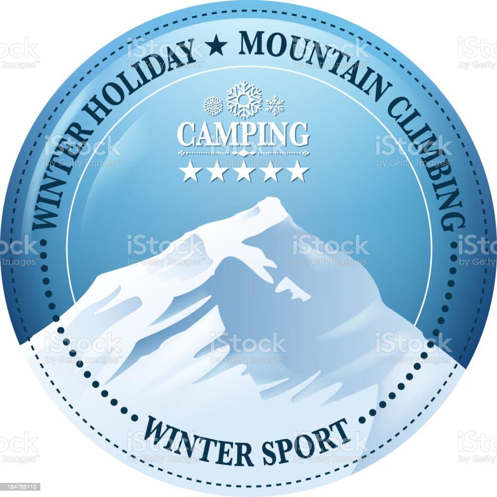 mountain climbing sign vector art illustration