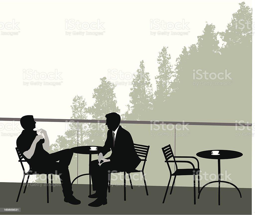 Mountain Coffee House Vector Silhouette royalty-free stock vector art