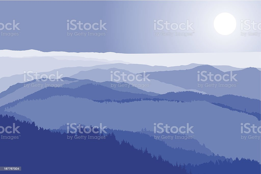 mountain crests royalty-free stock vector art