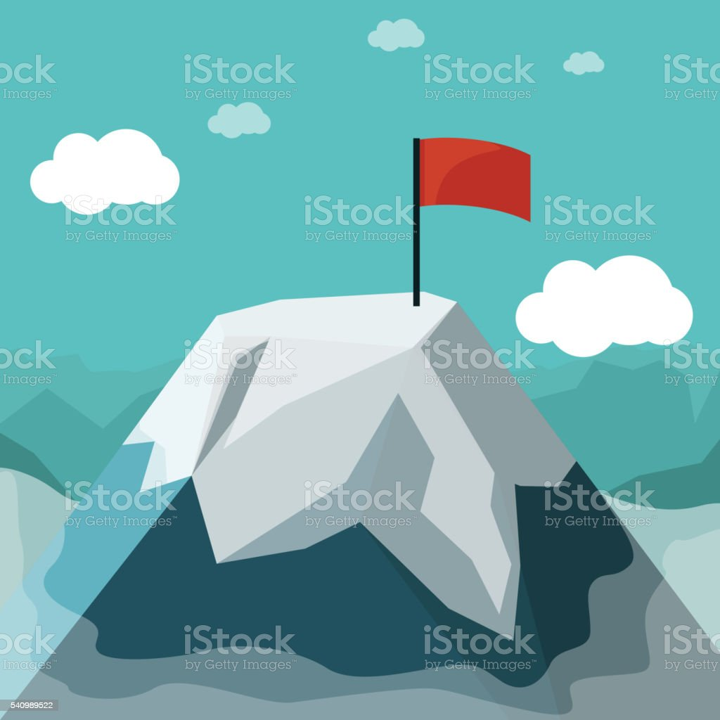 mountain flat design vector art illustration