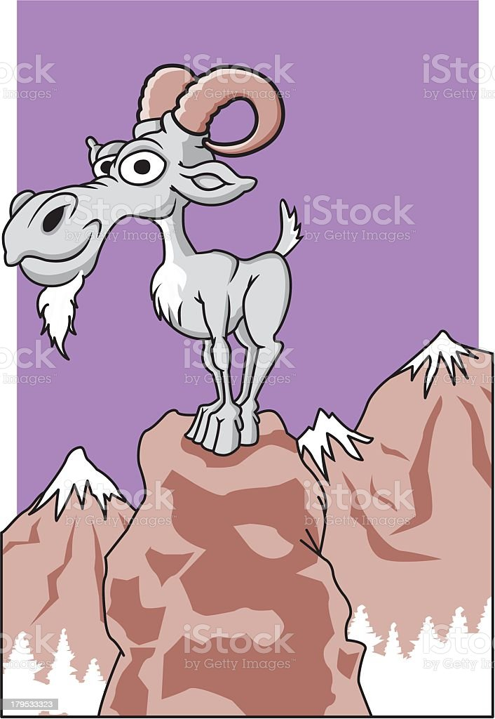 Mountain Goat royalty-free stock vector art