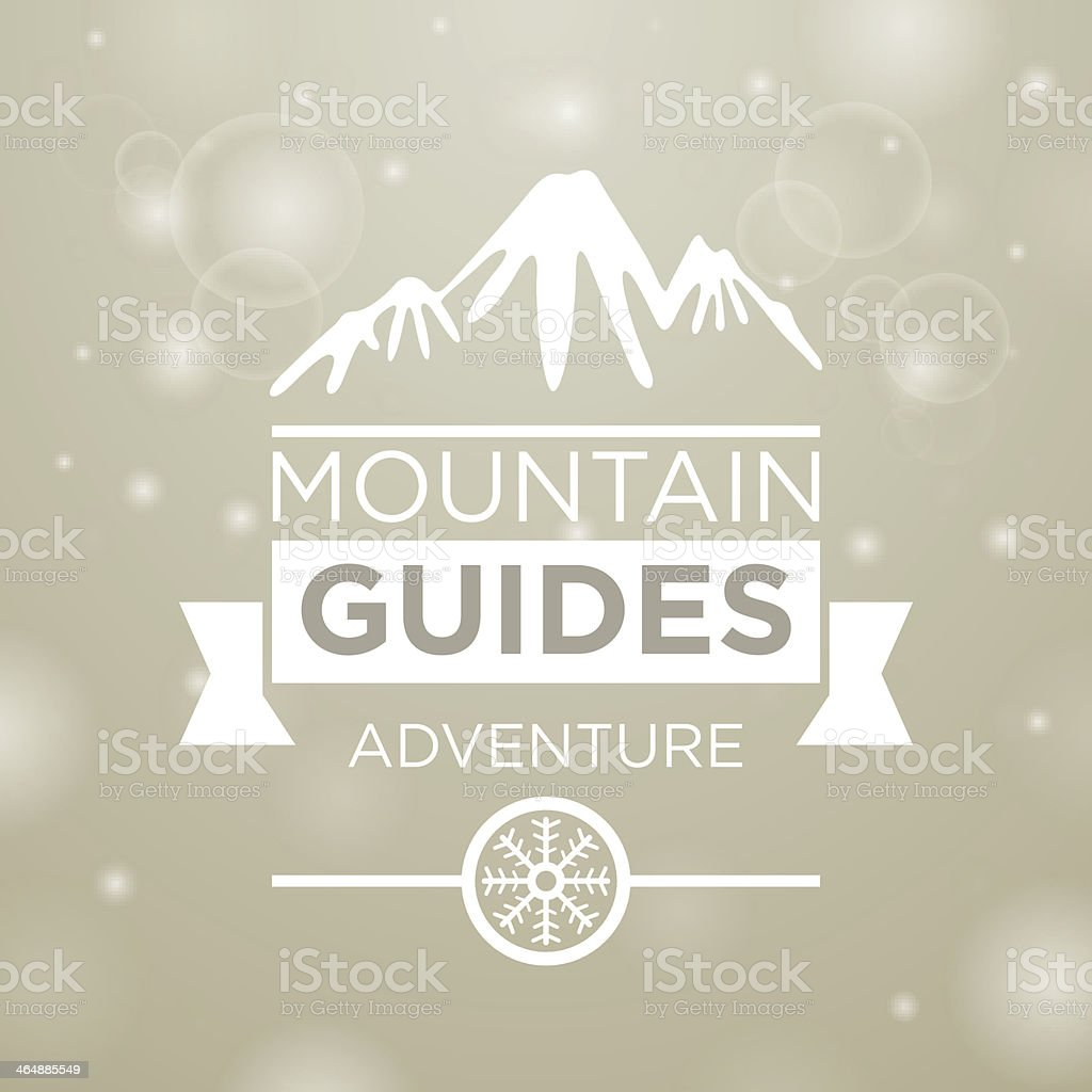 Mountain guides adventure vector art illustration