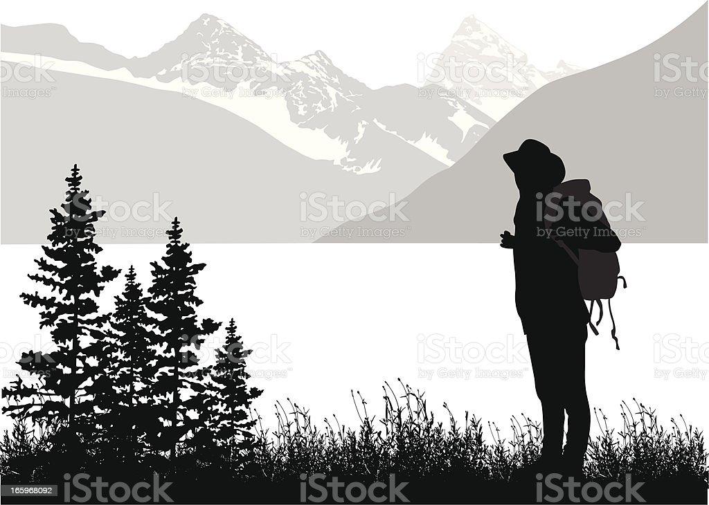 Mountain Hiking royalty-free stock vector art