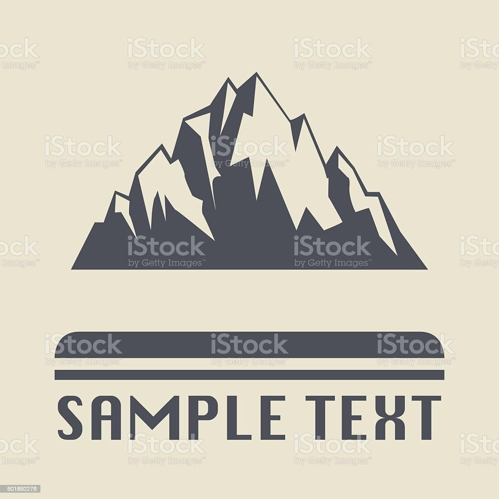 Mountain icon or sign vector art illustration
