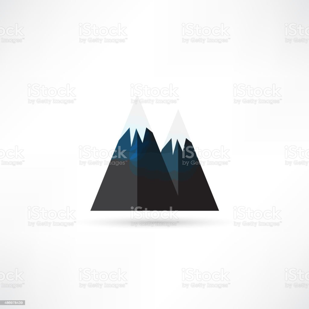 Mountain icon royalty-free stock vector art