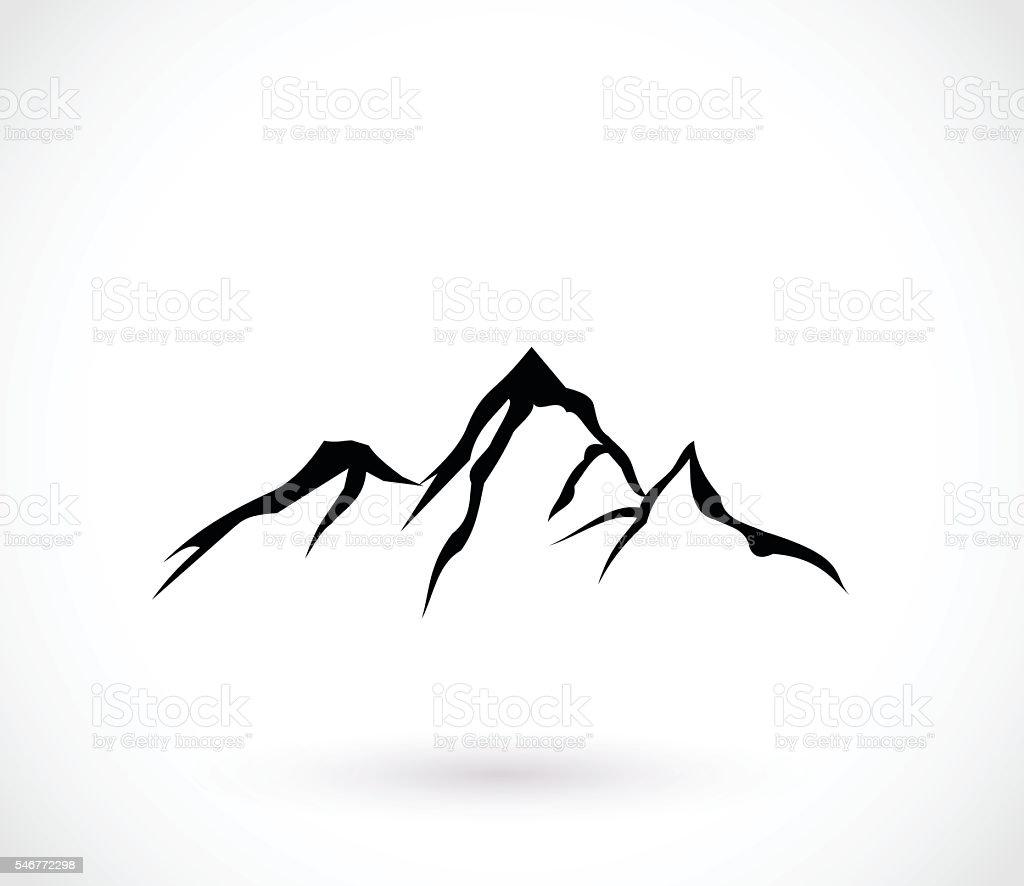 Mountain icon  vector illustration vector art illustration
