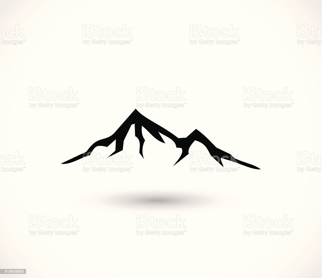 Mountain icon vector vector art illustration
