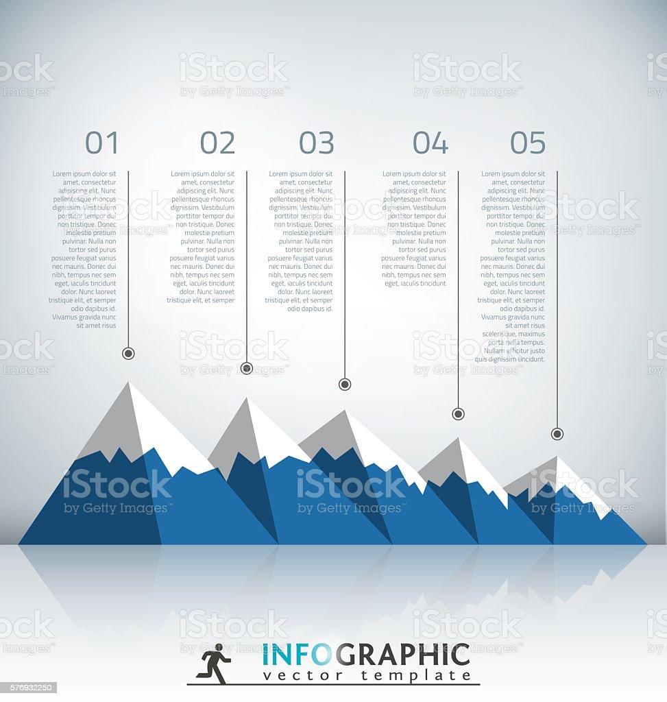 Mountain Infographic Template vector art illustration