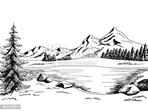 lake scene coloring pages - photo#36
