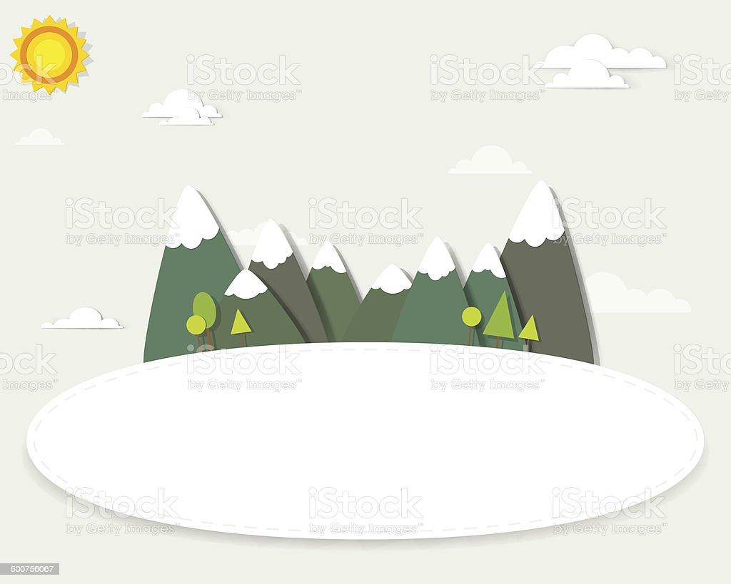 Paysage de montagne dans la bannière stock vecteur libres de droits libre de droits