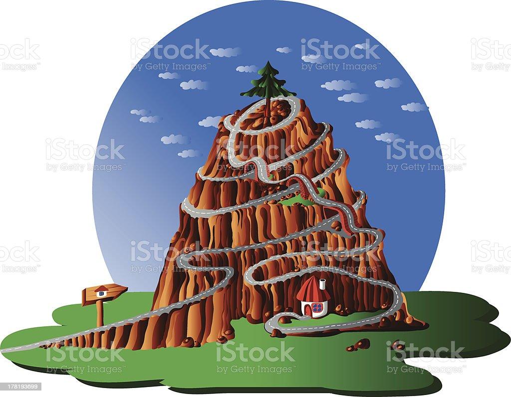 mountain landscape royalty-free stock vector art