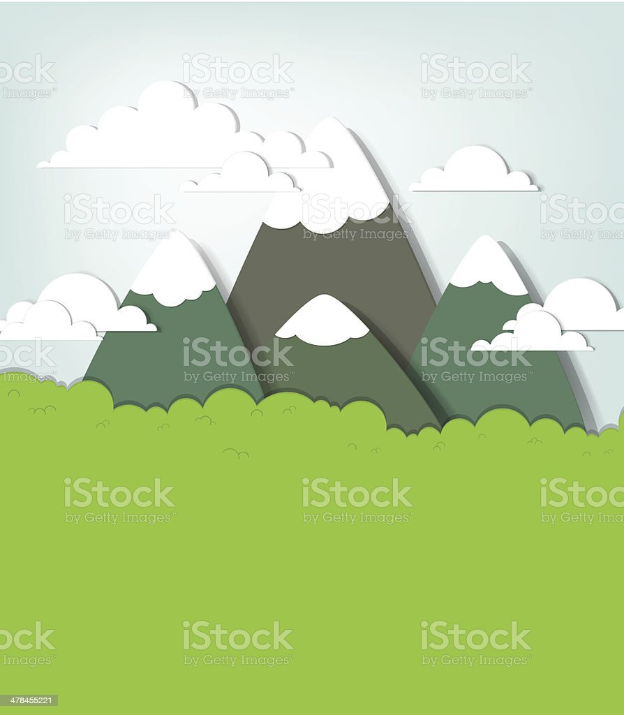 Paysage de montagne. stock vecteur libres de droits libre de droits