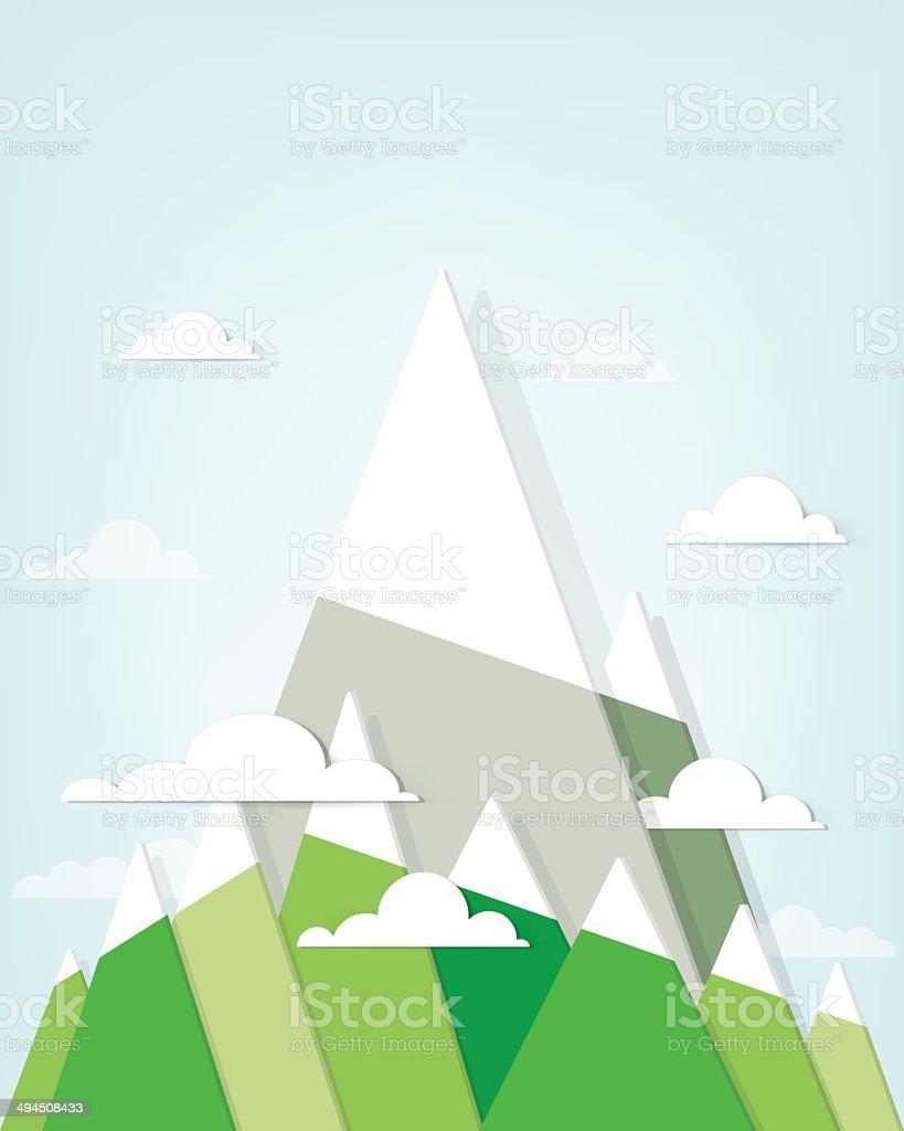 Paysage de montagne stock vecteur libres de droits libre de droits