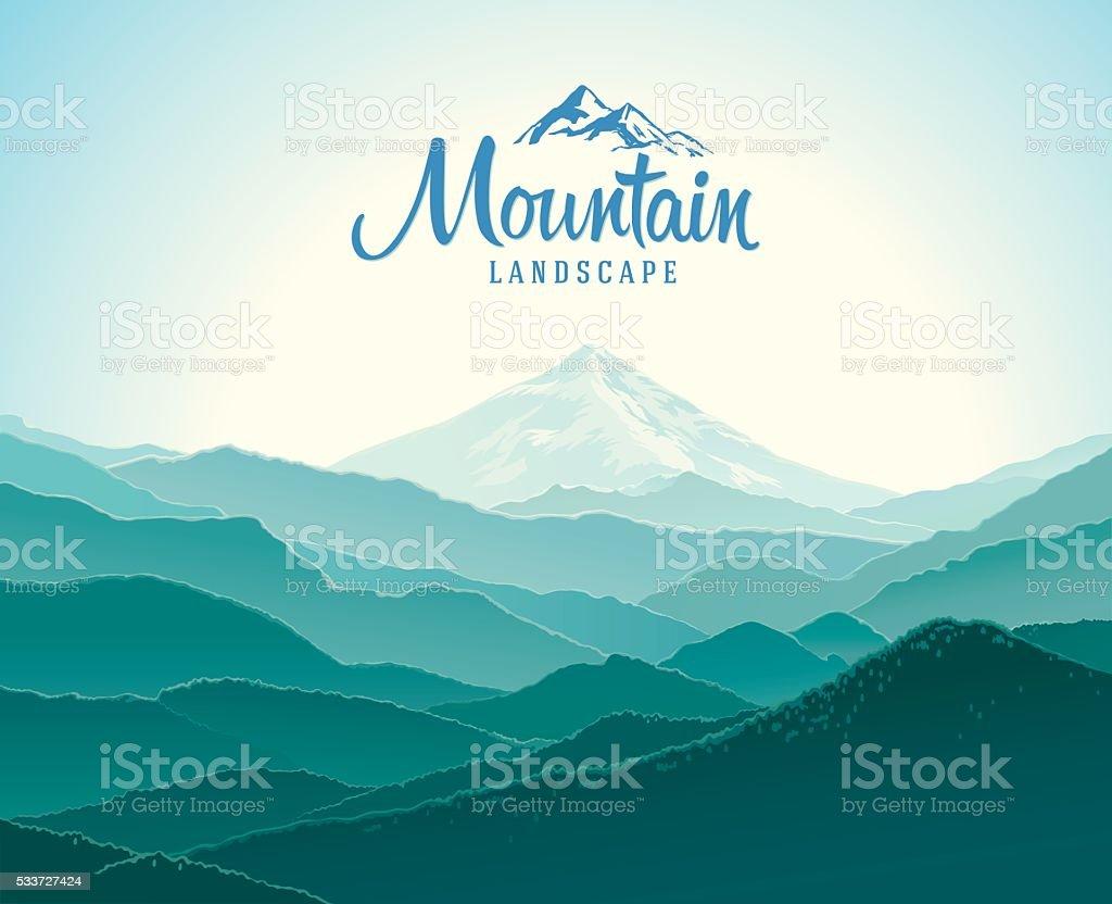 Mountain landscape. vector art illustration