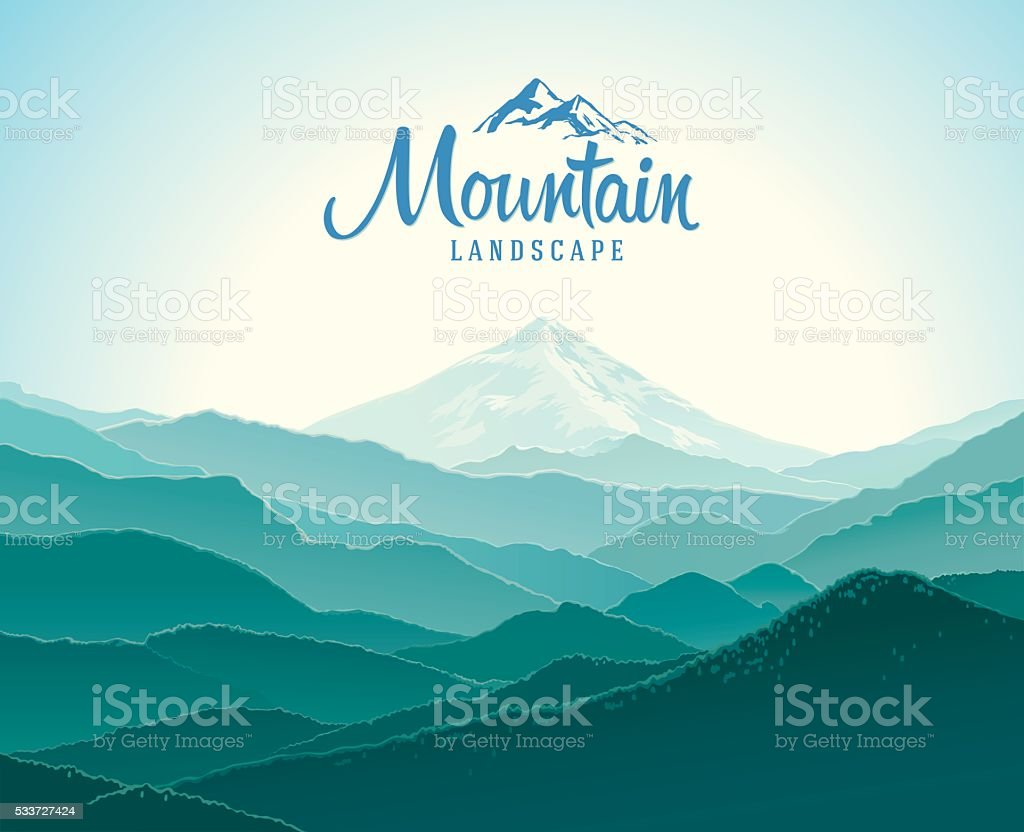 Mountain landscape. vector art illustration