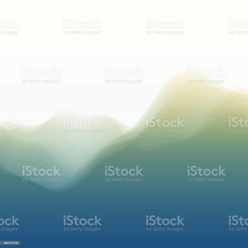 Mountain Landscape. Vector Silhouettes Of Mountains Backgrounds. vector art illustration