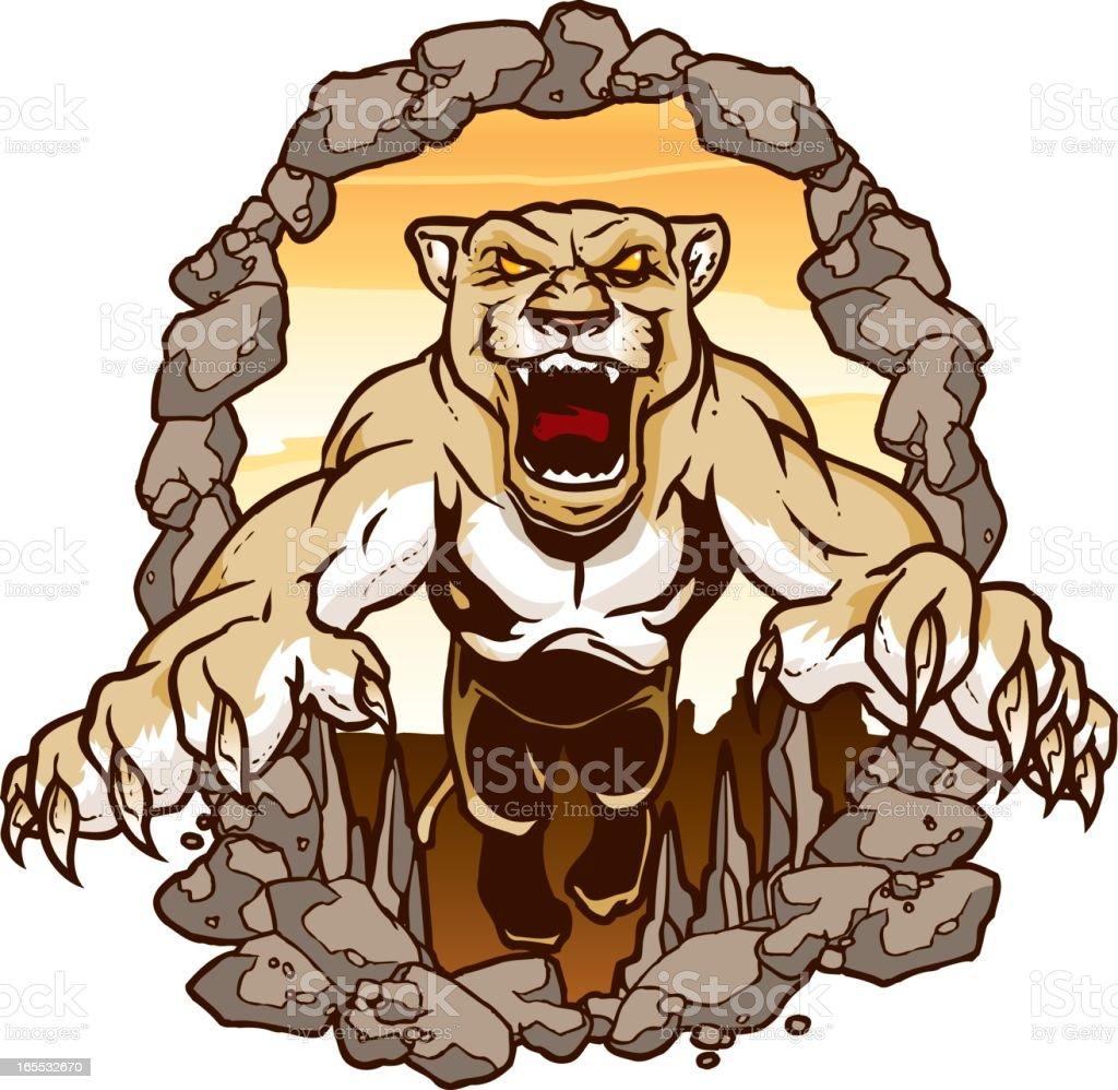 Mountain Lion vector art illustration