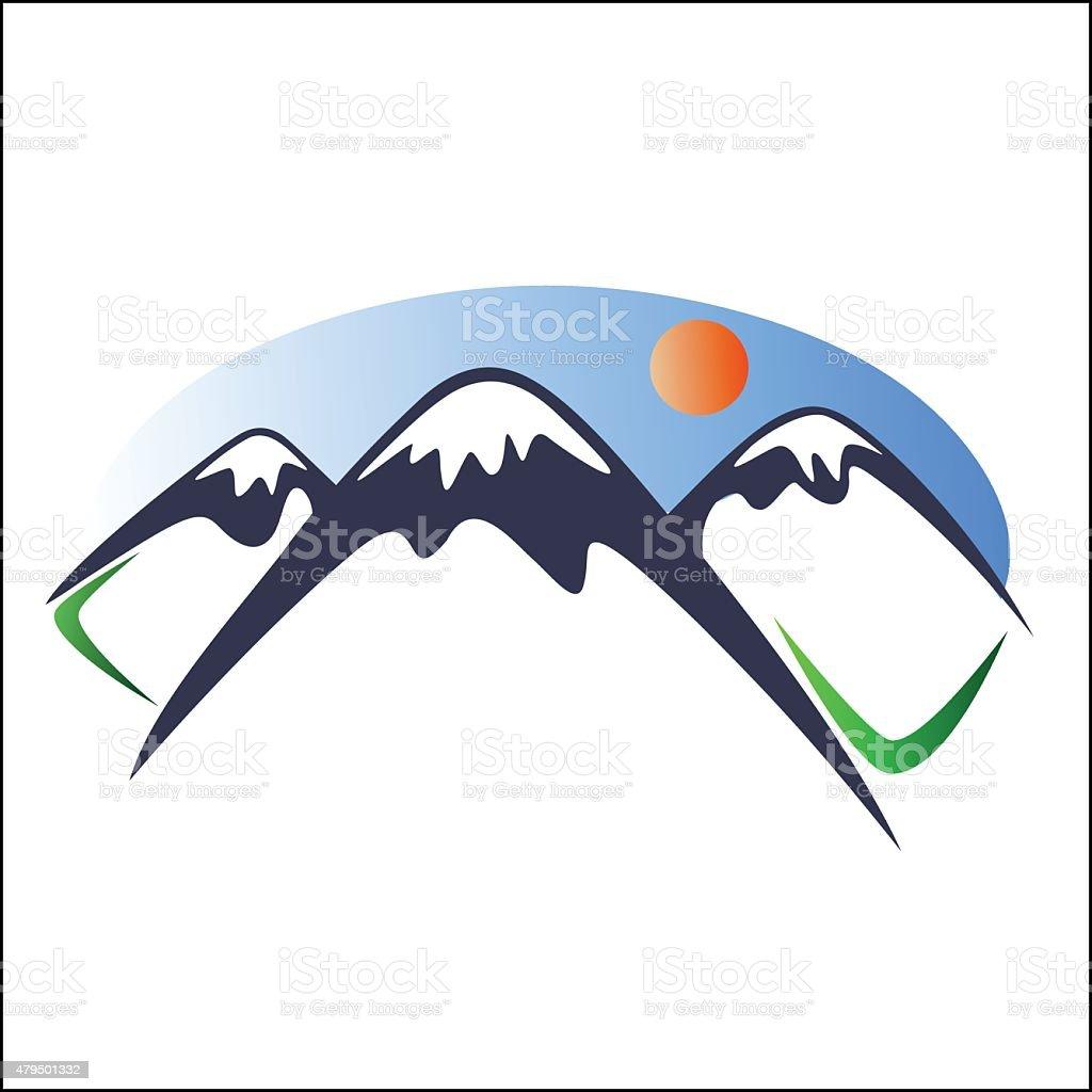 Mountain logo 2 royalty-free stock vector art