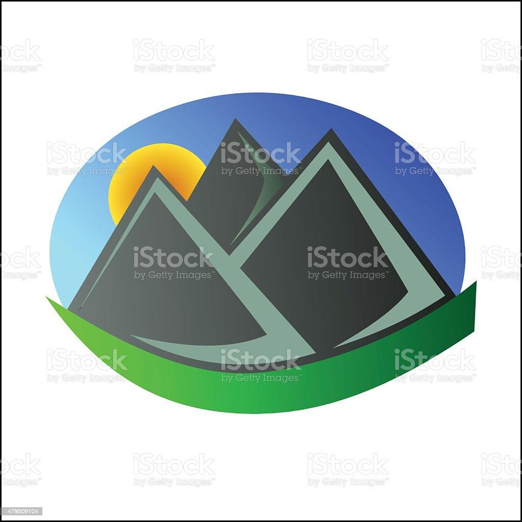 Mountain logo 4 royalty-free stock vector art