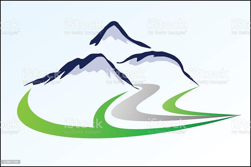 Mountain logo 6 royalty-free stock vector art